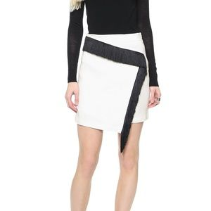 A.L.C. | Loren White Asymmetrical Fringe Skirt | 4